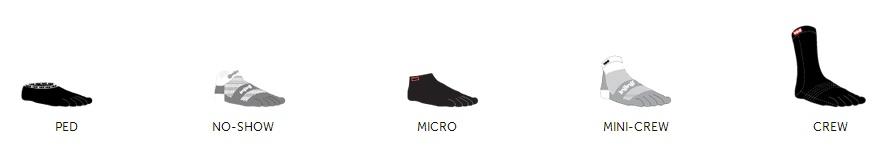 lengths Injinji toes socks