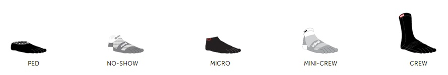 altura calcetines con dedos INJINJI