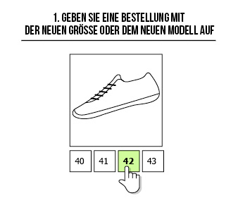 Cambiar la talla de calzado minimalista en zami.es