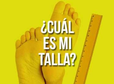 Instrucciones para la elección correcta de su talla de zapatilla